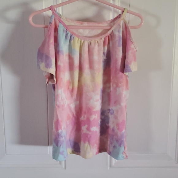 Girls 5/6 Cold shoulder Tye Dye Top